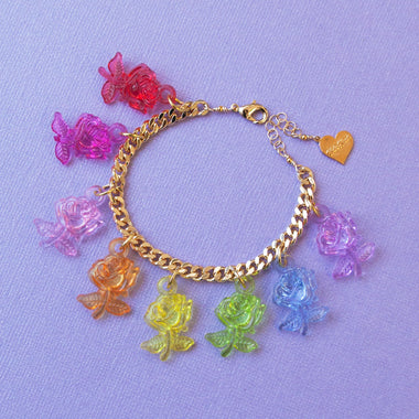 Crystal Clear Rose Anklet