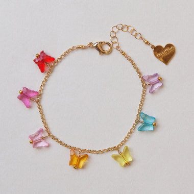 Crystal Clear Butterfly Anklet