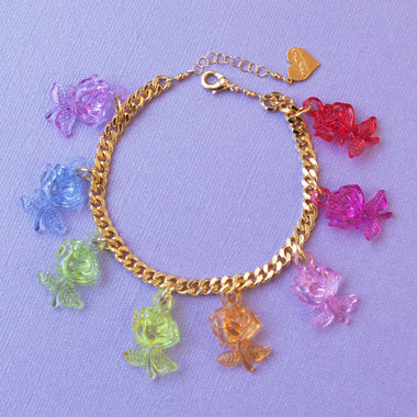Crystal Clear Rose Bracelet