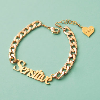 Sensitive Nameplate Bracelet
