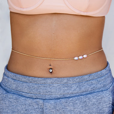 Aurora Borealis Belly Chain