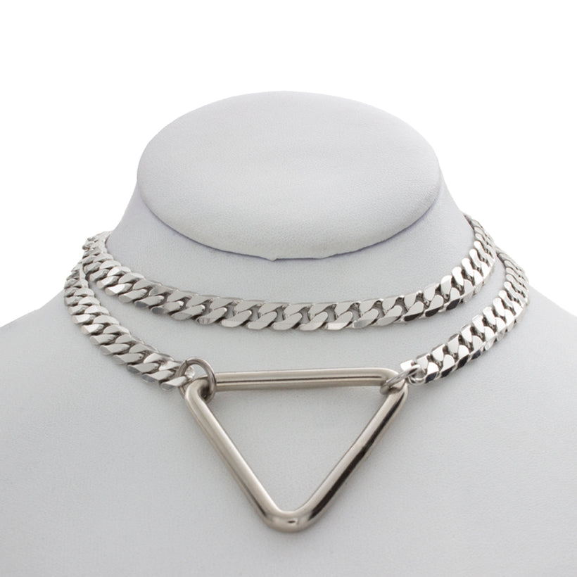 Open Triangle Pocket Chain