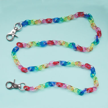 clear acrylic fruit loop chain belt