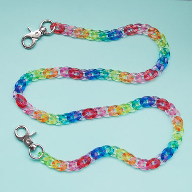 Clear acrylic  rainbow chain belt