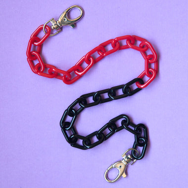 Black Cherry Ice Two Toned Pocket Chain