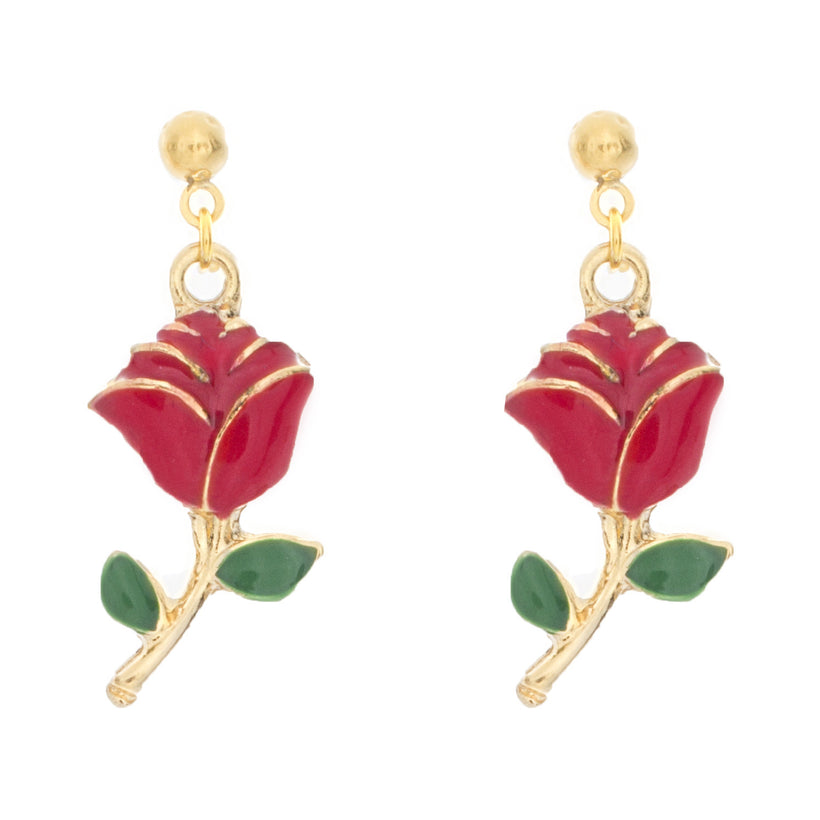 Holy Rose Stud Earrings