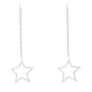 Long Chain Star Earrings