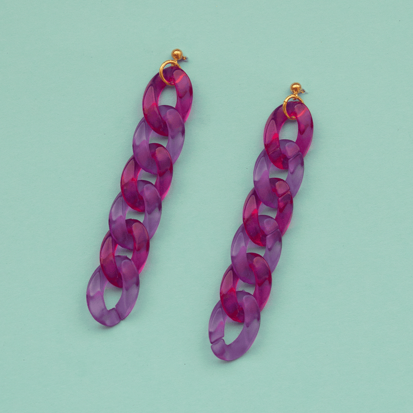 Duotone Chain Earrings