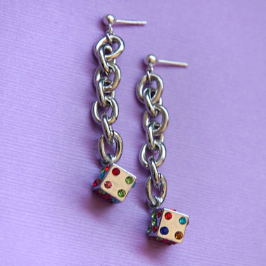 Kaleidoscope Dice Earrings