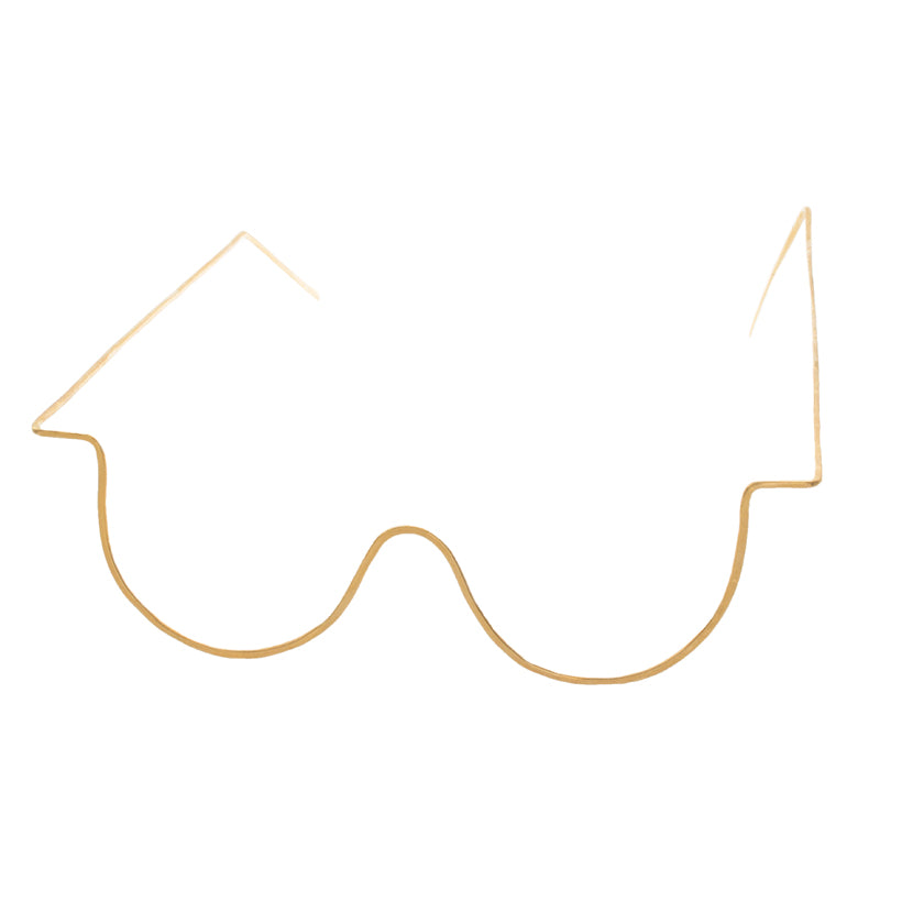 Large U Shaped Wire Glasses