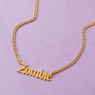 Zombie Nameplate Necklace