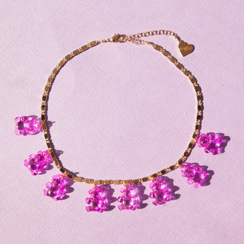 Crystal Clear Gummy Bear Choker