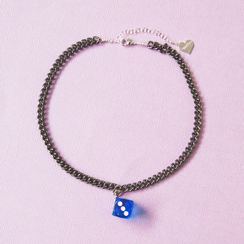 Roll The Dice Single Charm Necklace
