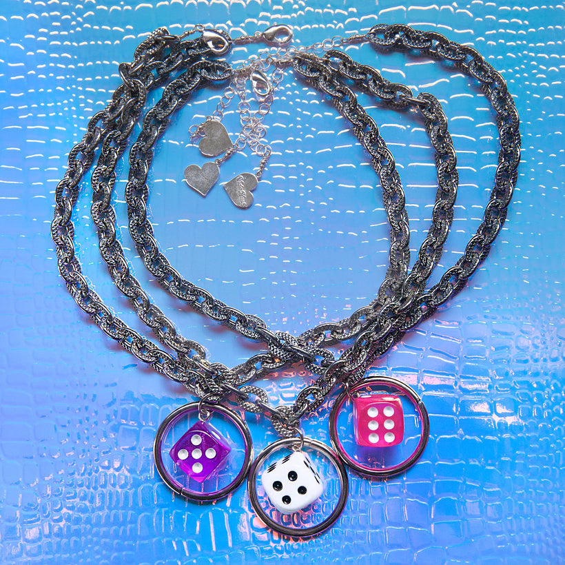 Transparent Dice O Choker