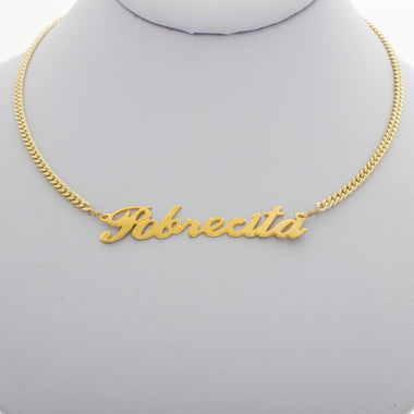Pobrecita Nameplate Necklace