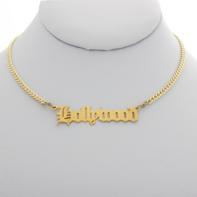 Hollywood Nameplate Choker
