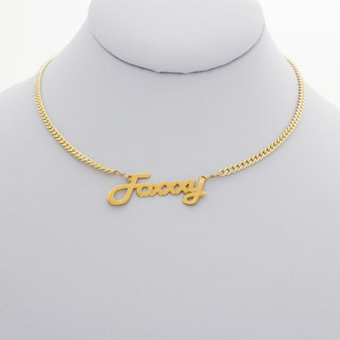 Foxxxy Nameplate Necklace