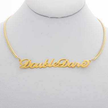 Double Dare Nameplate Necklace