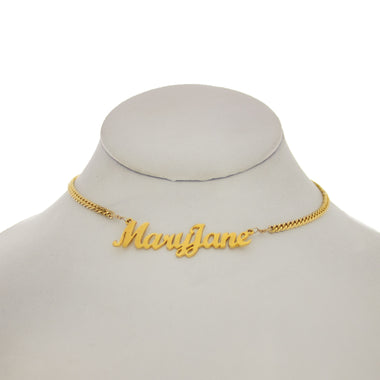 Mary Jane Nameplate Necklace