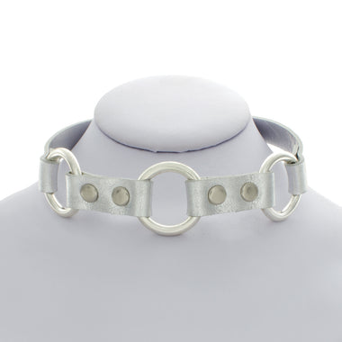 Silver Three Ring Choker