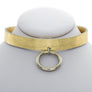 Metallic Mini O Leather Choker