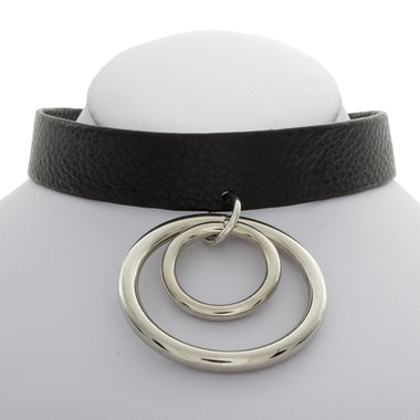 Double Leather O Choker
