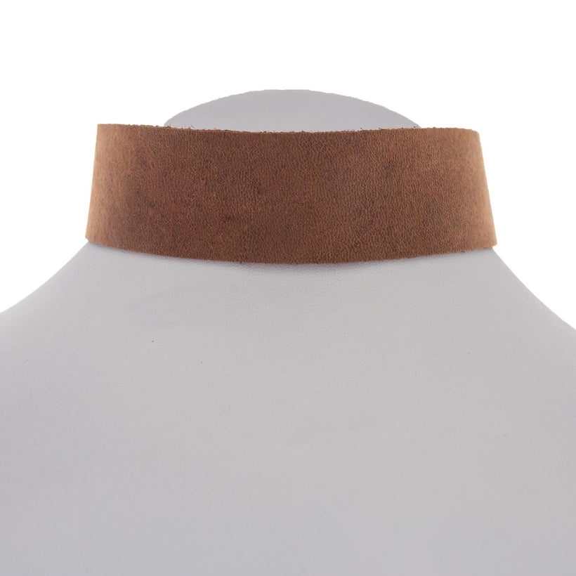 Mocha Leather Choker