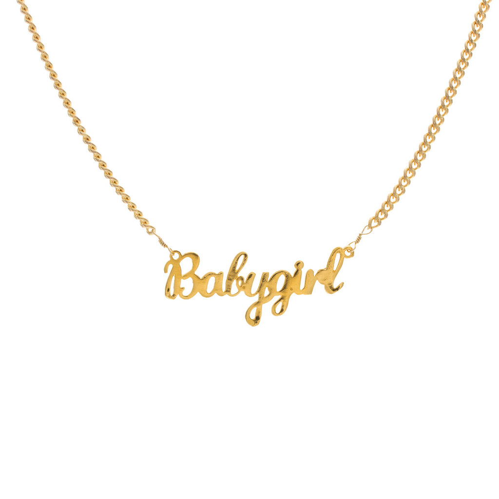 gold girl south india jewels name necklace yellow kids thangamayil baby chains