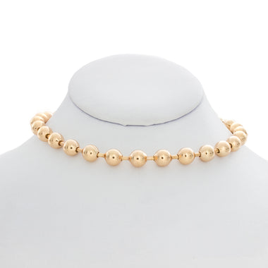Gold Ball Chain Choker