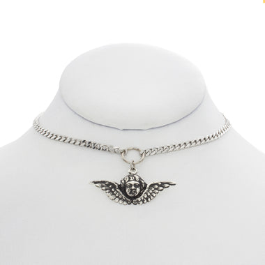 Angel Charm Ring Choker