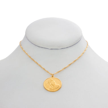 Simple Prayer Coin Necklace