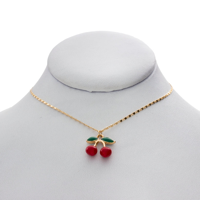 Mini Cherry Charm Necklace