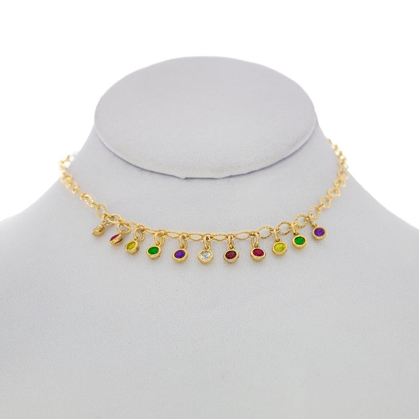 Mini Rainbow Crystal Choker
