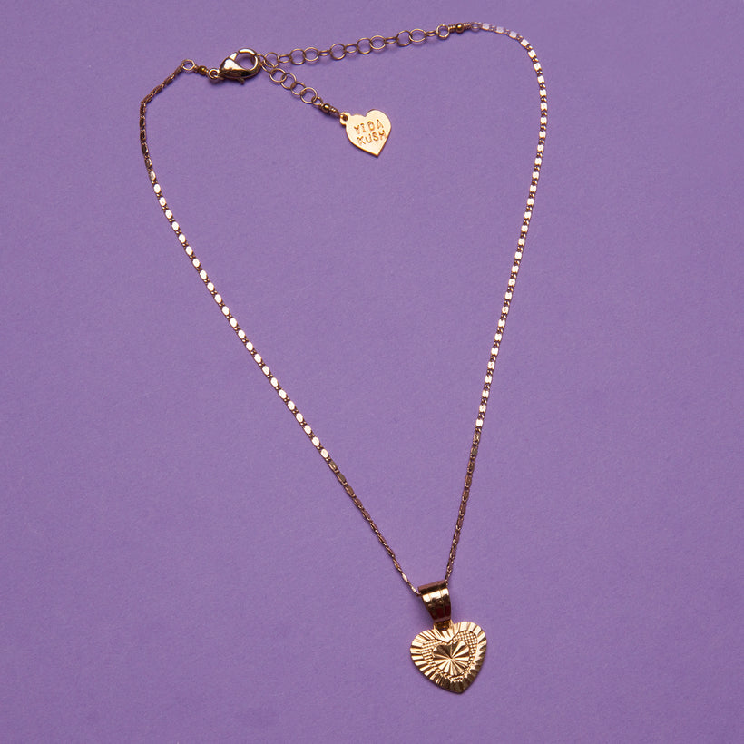 Diamond Cut Heart Necklace