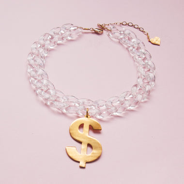 Crystal Clear Dolla Choker