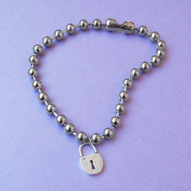 Ball & Chain Lock Necklace