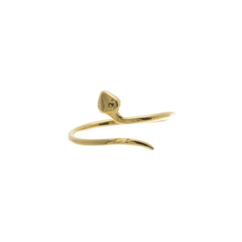 Thin Snake Knuckle Ring