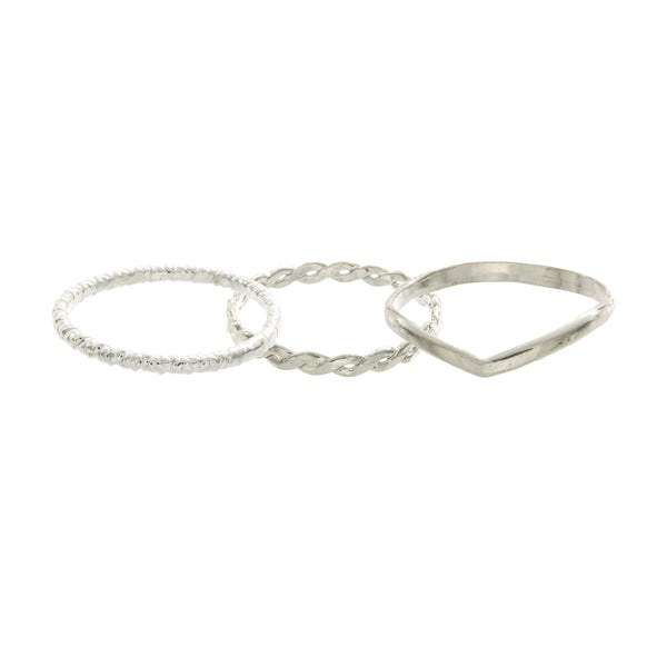 Princess Stackable Knuckle Ring Set