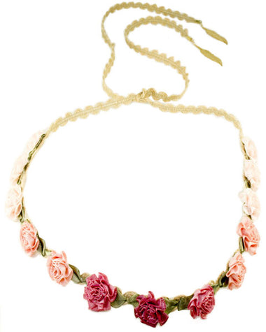 Pink Ombre Floral Headcrown