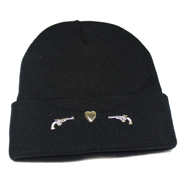 Gun and Heart Beanie