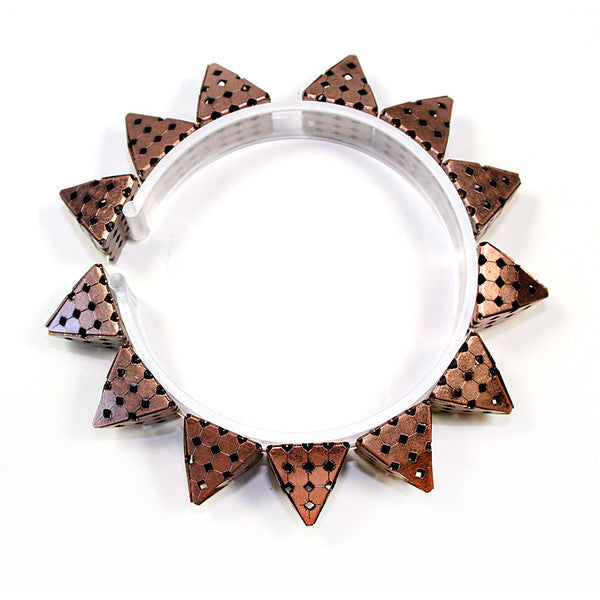 Perforated Pyramid Stud Bracelet