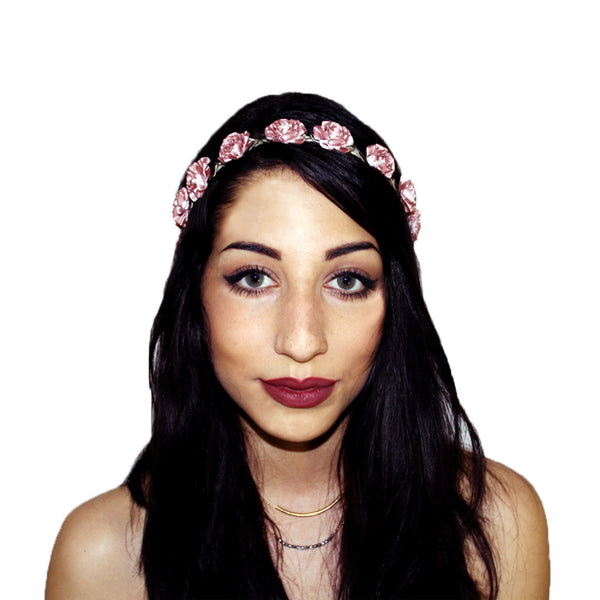 Rose Marigold Floral Headcrown