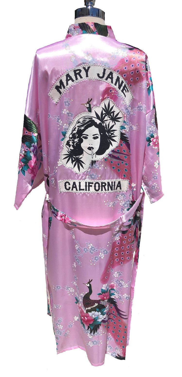 Mary Jane Floral Smoking Robe
