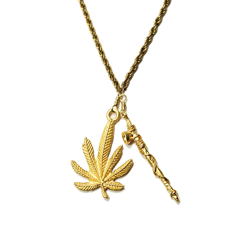 Other Areas Mary Jane and Peace Pipe Necklace