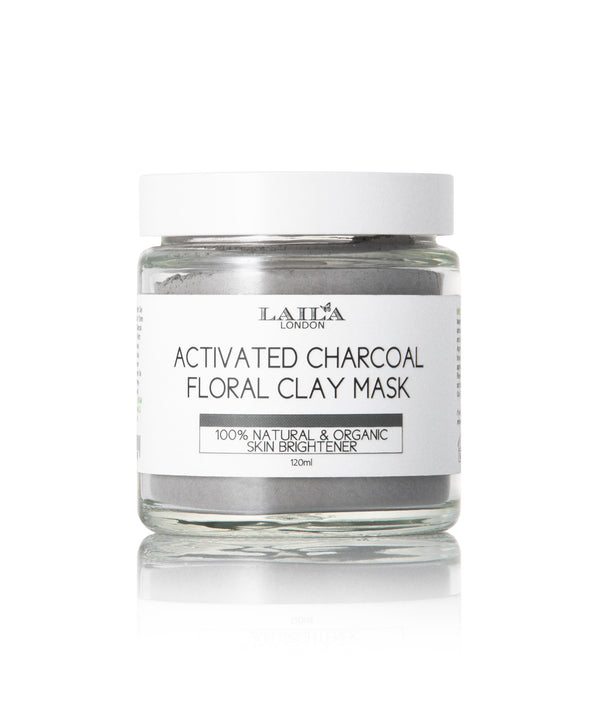 Activated Charcoal Floral Pure Cay Mask Acne, Eczema, Blackheads