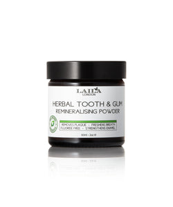 Remineralising Herbal Organic Tooth Powder (Fluoride-Free)