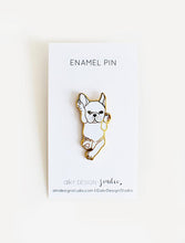 Load image into Gallery viewer, French Bulldog White Enamel Pin