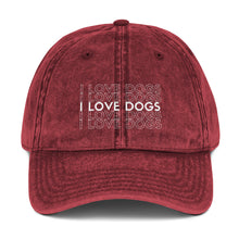 Load image into Gallery viewer, I LOVE DOGS Vintage Hat