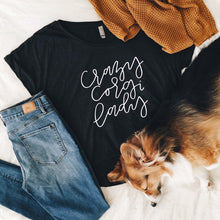 Load image into Gallery viewer, Crazy Corgi Lady Tee