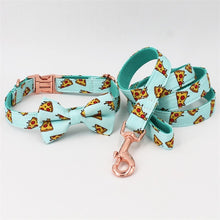 Load image into Gallery viewer, Pizza Me Leash & Collar Set